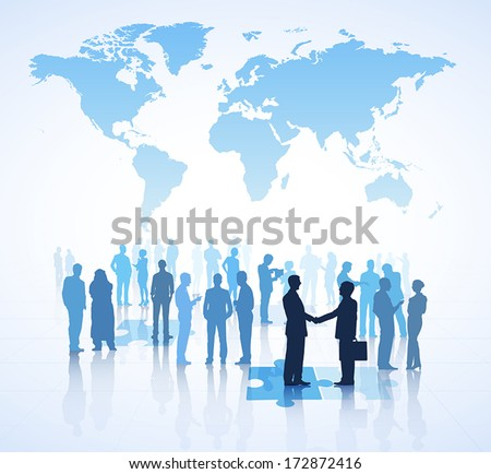 Global Business Vector - stock vector
