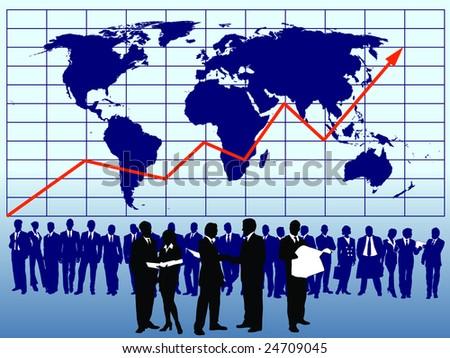 global business vector - stock vector