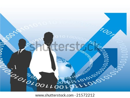Global business vector background - stock vector
