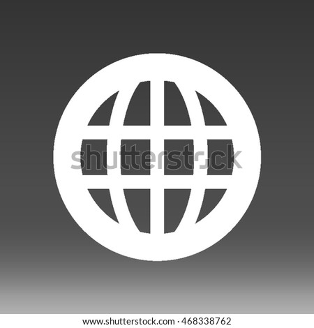 Global Business Vector Icon Illustration