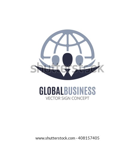 Global business vector logo design template stock vector for Global design company