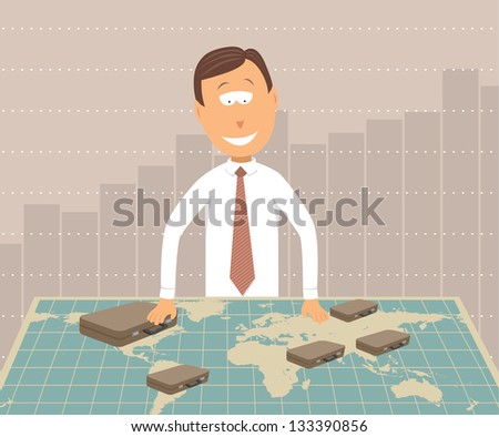Global Business / Worldwide Investments - stock vector