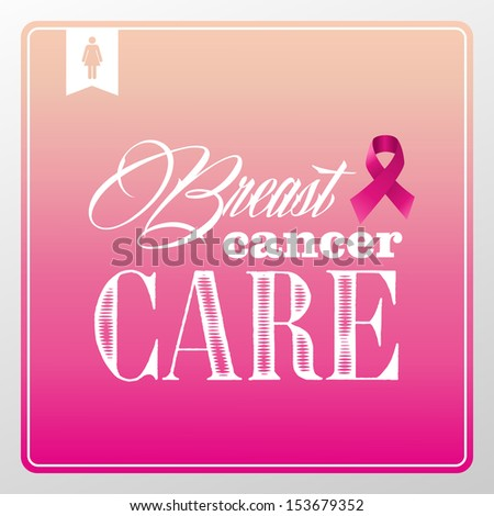 Global collaboration breast cancer awareness concept illustration.Vintage banner composition. EPS10 vector file organized in layers for easy editing. - stock vector