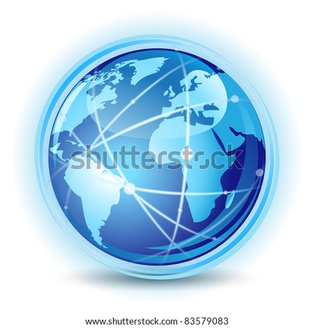 Global communication concept - stock vector