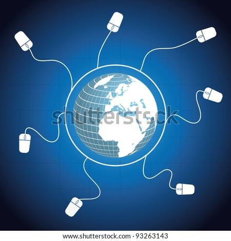 Global communication vector - stock vector