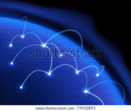 Global communication. Vector illustration. - stock vector