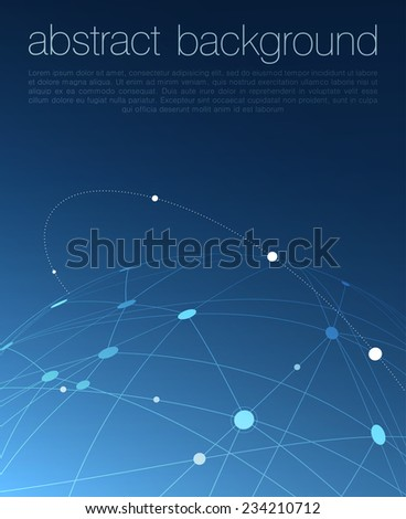 Global Communications Concept Illustration - stock vector