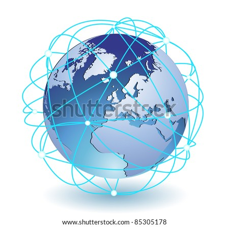 Global connection icon eps8 - stock vector