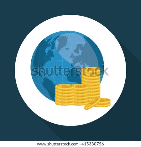 Global economy design, financial and money concept - stock vector