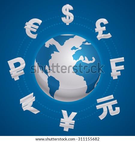 Global economy design, vector illustration eps 10. - stock vector
