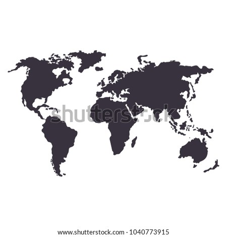 Global map black icon flat vector stock vector 1040773915 shutterstock global map black icon flat vector cartoon illustration objects isolated on white background gumiabroncs Image collections