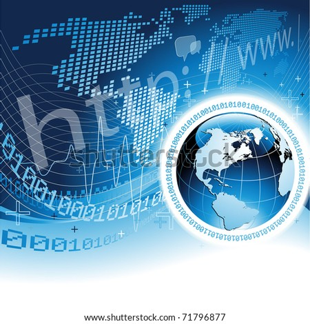 Global Network Concept - EPS 10 - stock vector