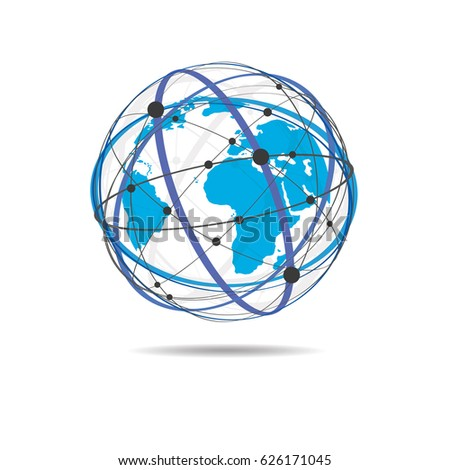 Global network connection world map point vectores en stock global network connection world map point line composition representing the global vector illustration logo gumiabroncs Choice Image