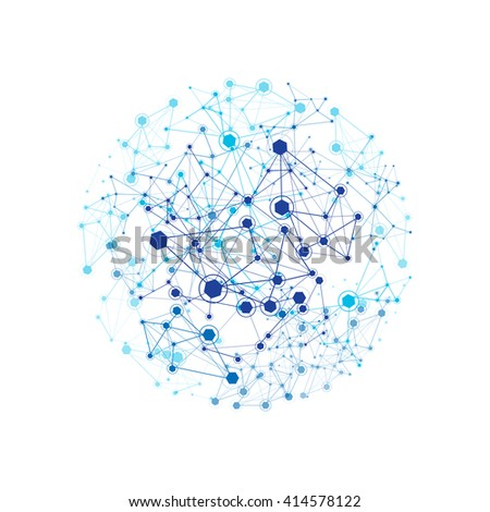 Global Network On White Background - Vector Illustration, Graphic Design Useful For Your Design - stock vector