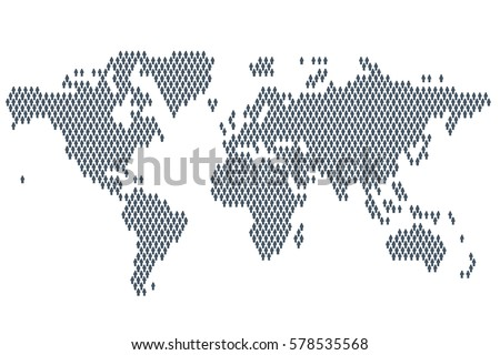 Global population world map made people vector de stock578535568 global population world map made up of people icon gumiabroncs Images