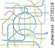 Global subway map. CMYK mode. Global colors. Easy colors change. AI file fully editable. - stock vector