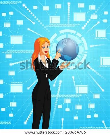 Global Technology - stock vector