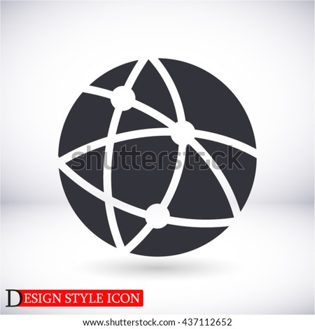 Global technology or social network  Vector icon 10 EPS - stock vector