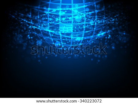global telecoms technology, abstract internet signal background, vector illustration - stock vector