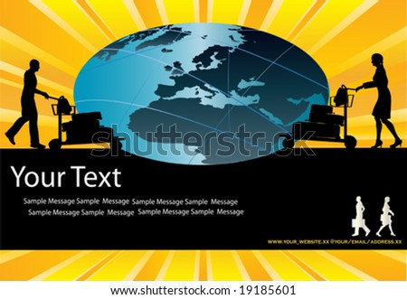 Global Travel Vector Background - stock vector