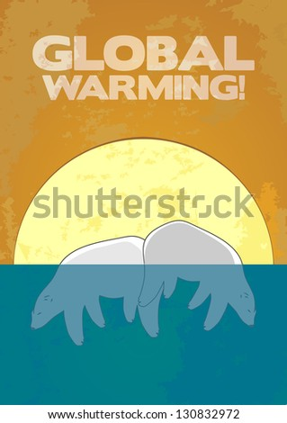 Global Warming! - stock vector