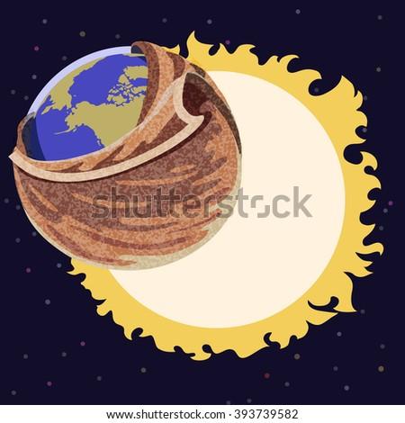 Global Warming - stock vector