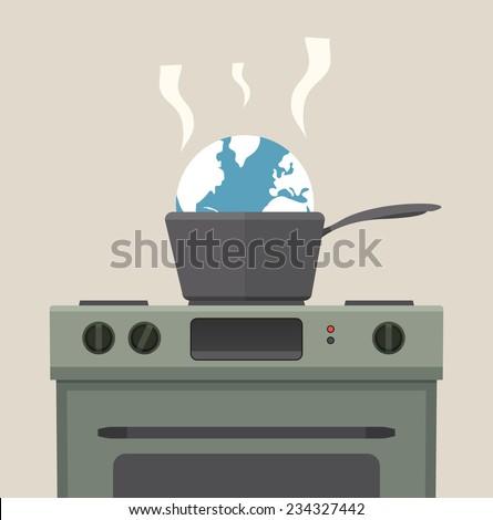 Global warming concept. EPS8. - stock vector