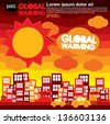 Global warming illustration vector concept.EPS10 - stock vector
