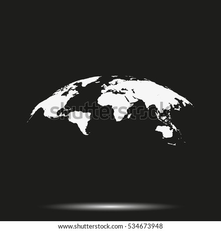 Global world map vector icon isolated stock vector royalty free global world map vector icon isolated on black background simple flat earth pictogram gumiabroncs Image collections