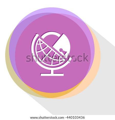 globe and lock. Internet template. Vector icon. - stock vector