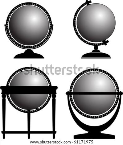 Globe collection - stock vector