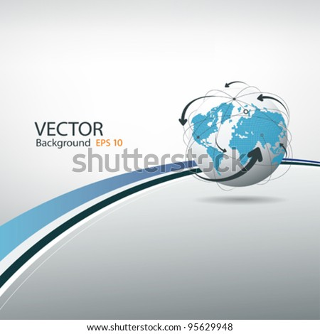 Globe connections concept design, vector illustration - stock vector