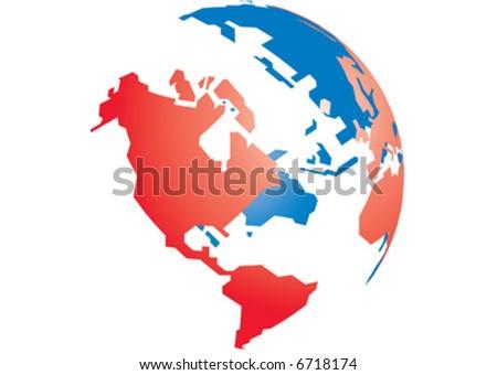 Globe 3D - stock vector