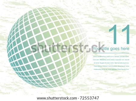 Globe design with textured background. - stock vector