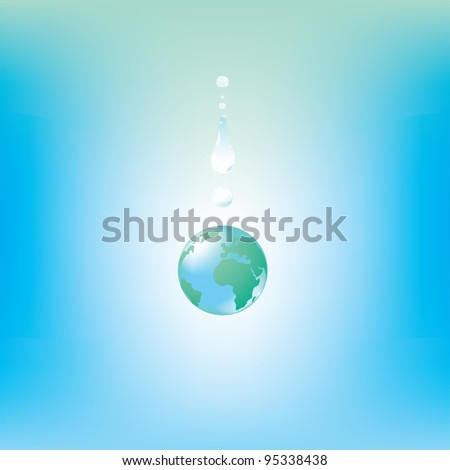 Globe drop - stock vector