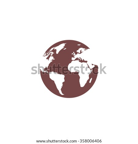 Globe earth. Colorful vector icon. Simple retro color modern illustration pictogram. Collection concept symbol for infographic project and logo - stock vector