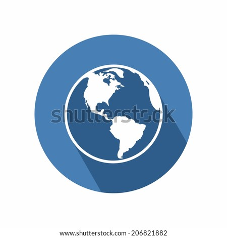 Globe earth icon on white background - stock vector