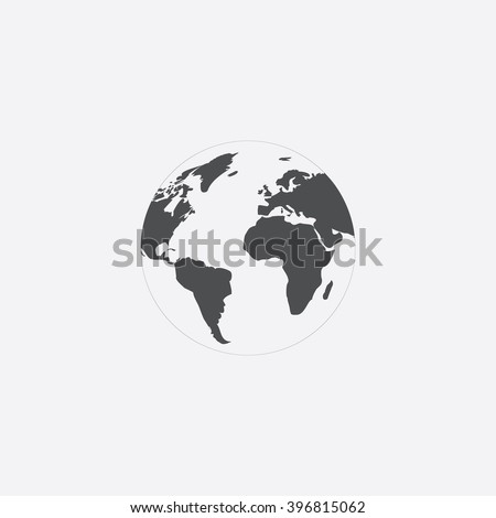 Globe earth Icon Vector.  - stock vector