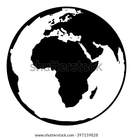 Captivating Globe Earth Vector Icon. Earth Planet Globe Web And Mobile Icon. Contour  Black Symbol