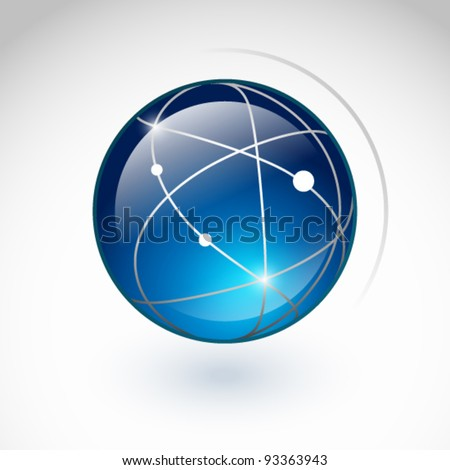 Globe icon on a white background - stock vector