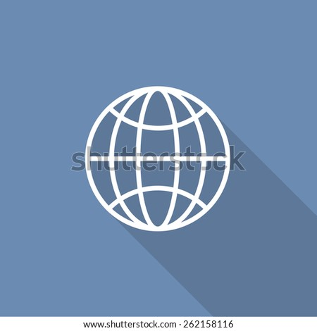 Globe icon. vector illustration - stock vector