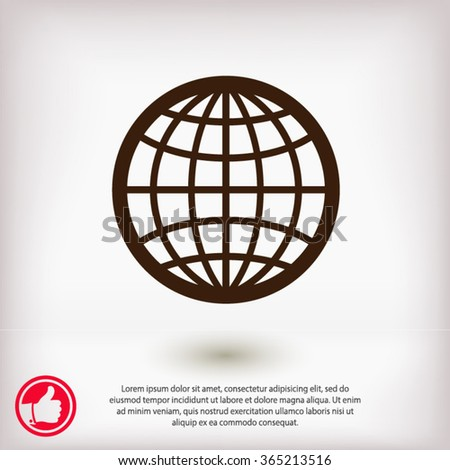 Globe Icon vector illustration. Flat design style  - stock vector