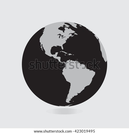 Globe icon map continents world earth stock vector 423019495 globe icon with map of the continents world earth eps10 vector eps flat web art gumiabroncs Gallery
