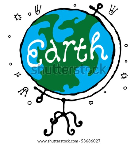 globe in situation - stock vector