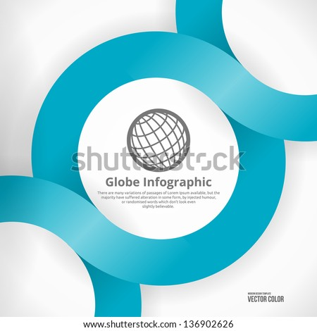 Globe  Info graphic Design. Clean Abstract Business Background. Modern Icon. - stock vector