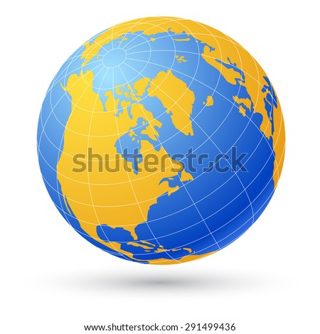 Globe isolated on white. - stock vector