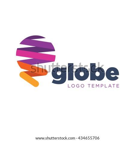Globe logo template - stock vector