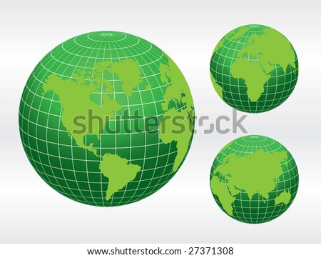 Globe of the World / vector - stock vector