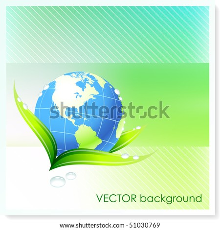 Globe on Vector Background Original Illustration