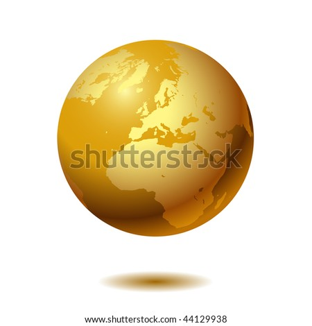 Globe on white background. Vector. - stock vector